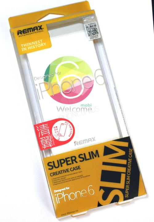 Чехол Remax Clear Series iPhone 6+ пластик прозрачный белый 0,5mm