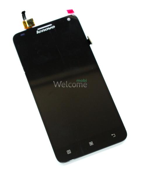 Дисплей Lenovo S580 with touchscreen black orig (TEST)