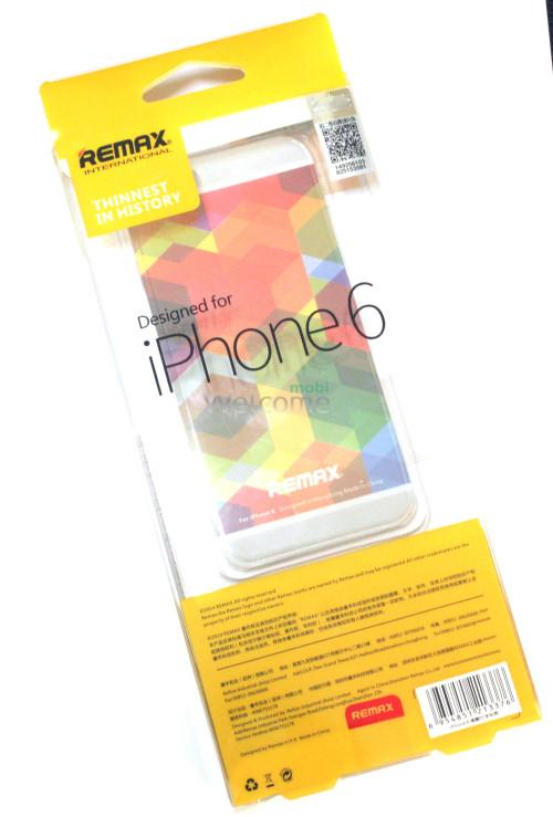 Чехол Remax Clear Series iPhone 6 пластик прозрачный белый 0,5mm