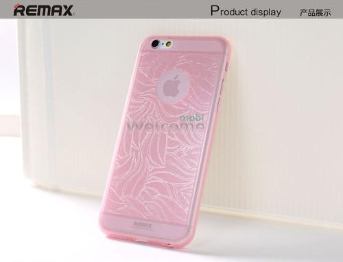 Чехол Remax Autumn Leaves iPhone 6 силикон розовый