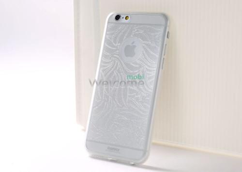 Чехол Remax Autumn Leaves iPhone 6 силикон серебро