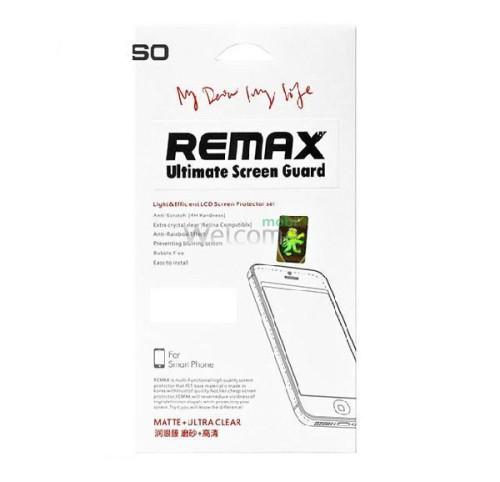 Защитная пленка iPhone5 Remax комплект матовая + глянец (4 шт)