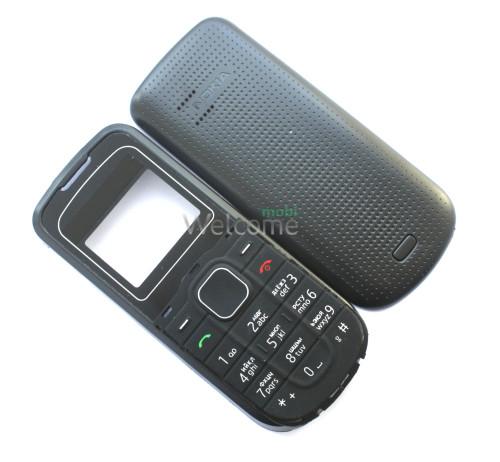 Корпус Nokia 1202 black high copy полный комплект+англ.кнопки