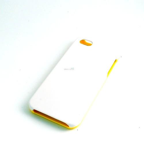 Чехол Classic Case 2D пластиковый белый,желтый 509703