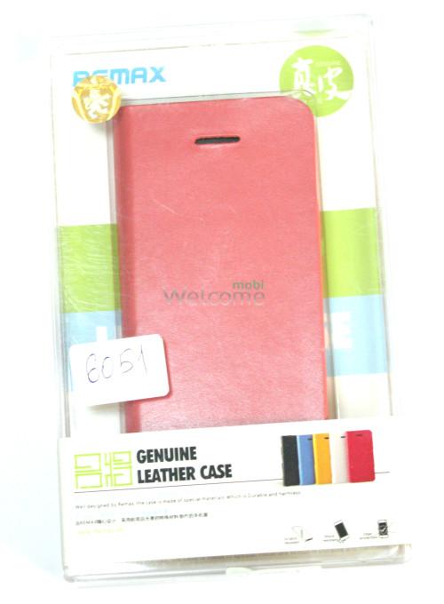 Чехол Remax Genuine Flip iPhone 5,5s красный искусственная кожа 529001