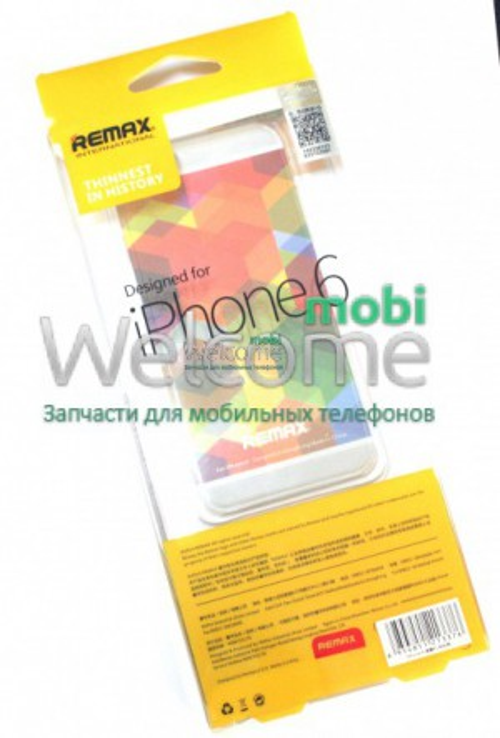 Чехол Remax Clear Series iPhone 6 силикон прозрачный белый 0,5mm