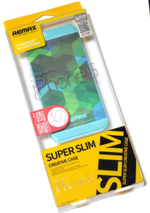Чехол Remax Clear Series iPhone 6 пластик прозрачный голубой 0,5mm