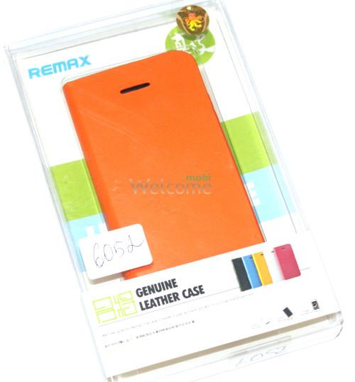 Чехол Remax Genuine Flip iPhone 5,5s оранжевый искуственная кожа 529002