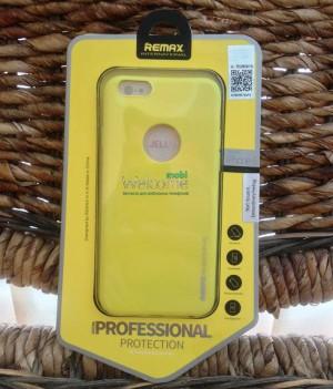 Чехол Remax Jelly iPhone 6 силикон 0,6mm желтый 600702