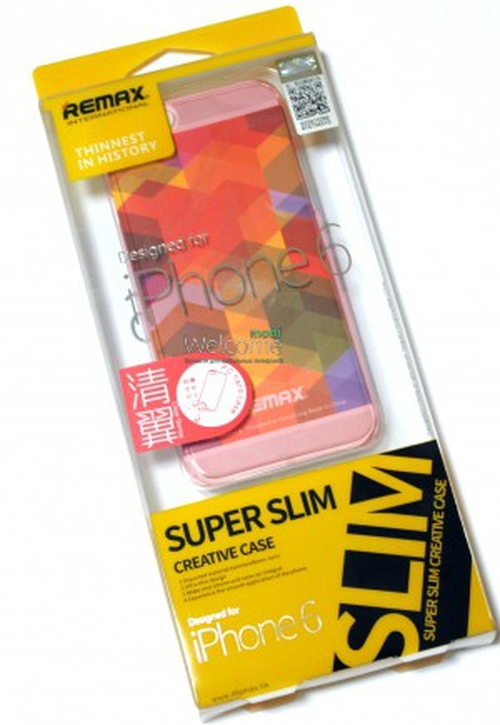 Чехол Remax Clear Series iPhone 6 пластик прозрачный розовый 0,5mm