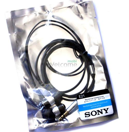 Наушники вакуумные метал Sony EX-E21 gold