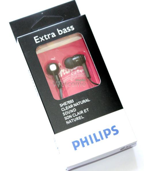 Наушники вакуумные  ваккумные Philips SHE7055 black