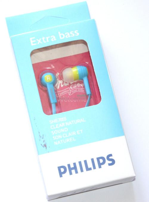Наушники вакуумные  ваккумные Philips SHE7055 blue