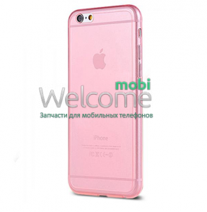 Чехол Remax Ultrathin iPhone 6 силикон прозрачный pink 0.2mm