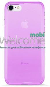 Чехол Remax Ultrathin iPhone 7,iPhone 8 силикон прозрачный violet 0.2mm