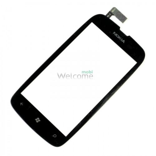 Сенсор Nokia 610 Lumia black high copy