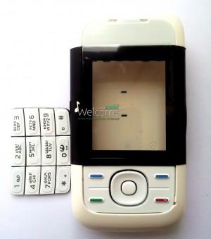 Корпус Nokia 5200 black high copy полный комплект+кнопки