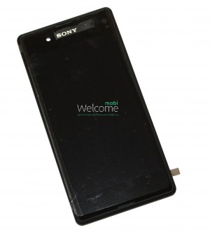 Дисплей Sony E3 XPERIA with touchscreen digitizer assembly with frame  black orig