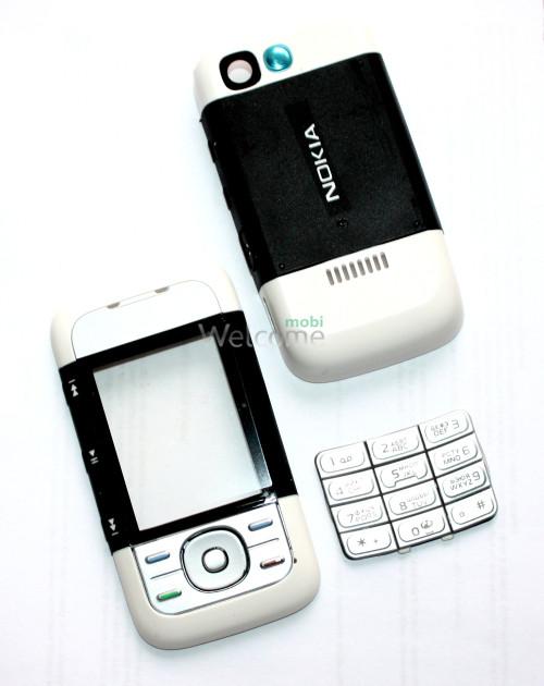 Корпус Nokia 5300 black,white high copy полный комплект+кнопки