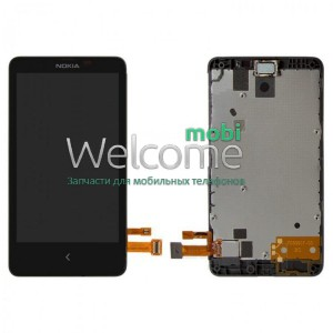 Дисплей Nokia X Dual Sim with touchscreen with frame orig