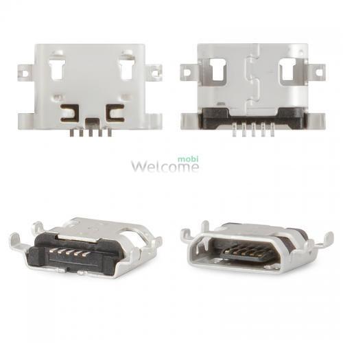 Коннектор зарядки Fly IQ436i,IQ440,IQ4404,IQ456,IQ4601,DS131,FS504,IQ4418,IQ4490,Lenovo A706 (5 шт.)