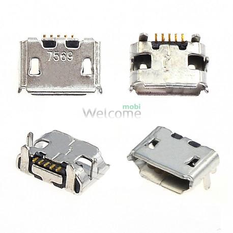 Коннектор зарядки Fly DS106,DS116,IQ235,IQ237,IQ238,IQ255,IQ256,IQ445,IQ450,IQ450Q orig (5 шт.)