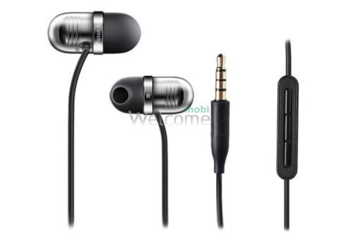 Наушники вакуумные метал Xiaomi MI Piston AIR black+mic (гарнитура)
