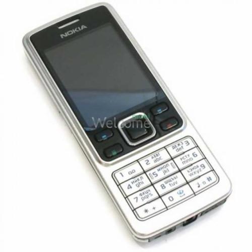 Корпус Nokia 6300 silver high copy AA полный комплект+кнопки