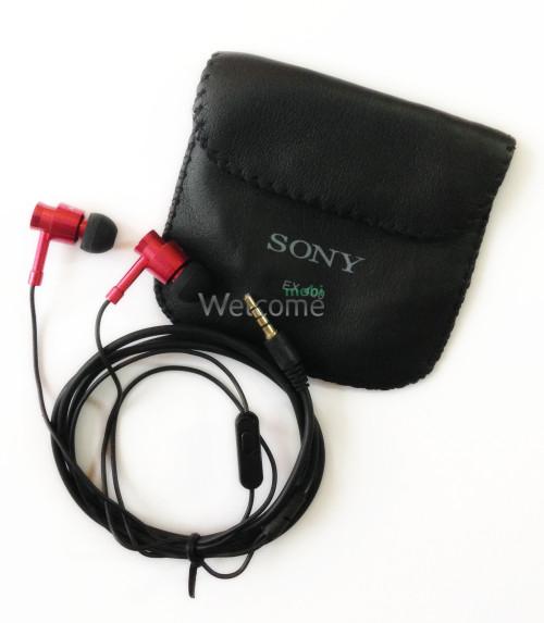 Наушники вакуумные метал Sony EX-400 +mic red +чехол