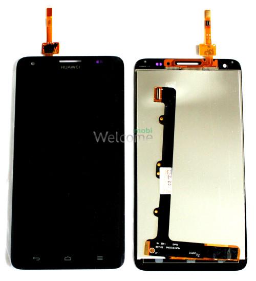 Дисплей Huawei G750 Honor 3x + touchscreen black orig