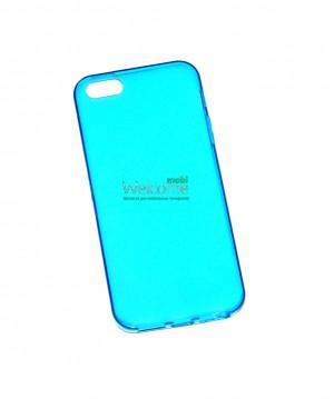 Чехол Remax iphone 5,5s силикон голубой