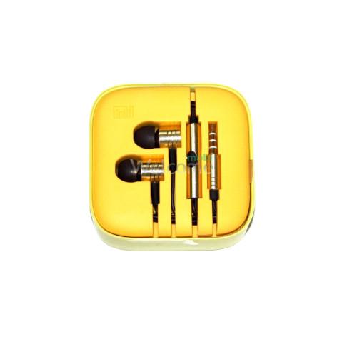 Наушники вакуумные метал Xiaomi MI ORIGINAL yellow +mic (гарнитура)