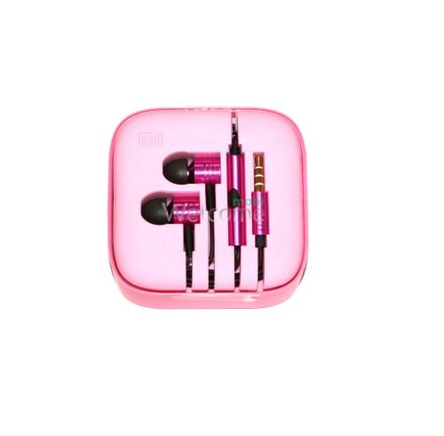 Наушники вакуумные метал Xiaomi MI ORIGINAL pink +mic (гарнитура)