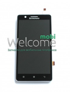 Дисплей Lenovo A536 with touchscreen and frame black service orig