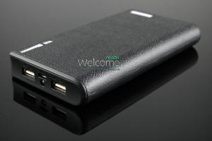 Внешний аккумулятор (power bank) UKC 20000mAh +LED дисплей 2USB(1A+2A)+LED фонарик black