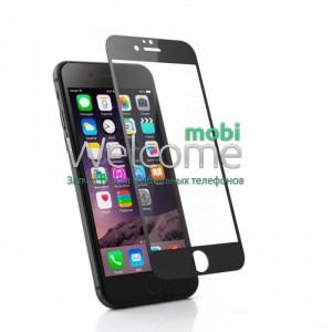Стекло iPhone 6,6S (0.3 мм, 2.5D,черное, полное,с олеофобным покрытием, и покрытием Silk Screen)