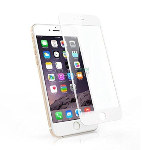Стекло iPhone 6,6S (0.3 мм, 2.5D, белое, полное, с олеофобным покрытием, и покрытием Silk Screen)