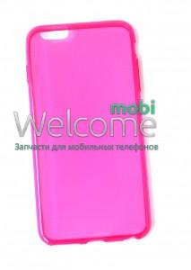 Чехол Remax Pudding Case iPhone6+ силикон прозрачный розовый 0,2mm