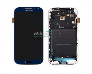 Дисплей Samsung i9500,i337,i9505 with touchscreen + frame blue Galaxy S4 orig