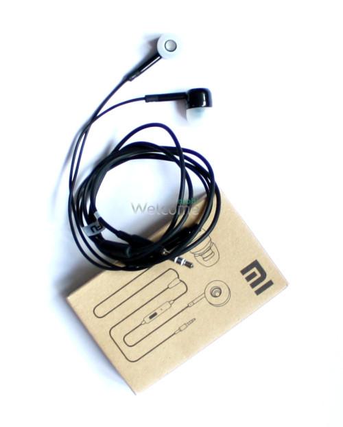Наушники вакуумные метал Xiaomi MI ORIGINAL black+mic (гарнитура)