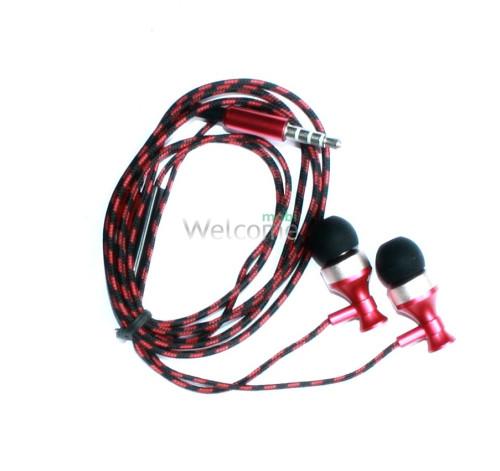 Наушники вакуумные Samsung EX-142 red+mic+чехол (гарнитура)
