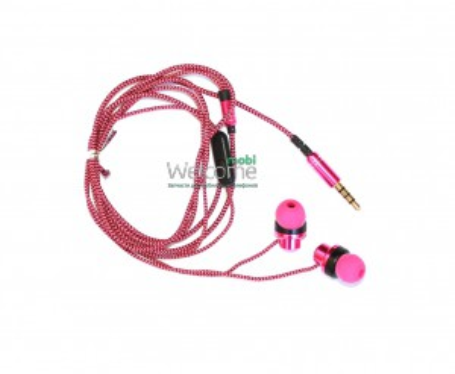 Наушники вакуумные SJ-310 pink+mic (гарнитура)