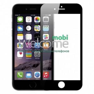 Стекло iPhone 6+,6S+ (0.3 мм, 3D,4D,черное,с олеофобным покрытием)
