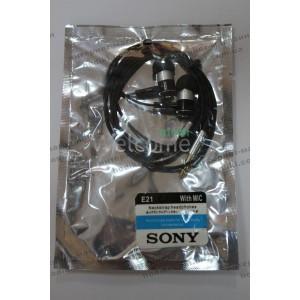 Наушники вакуумные метал Sony EX-E21 silver