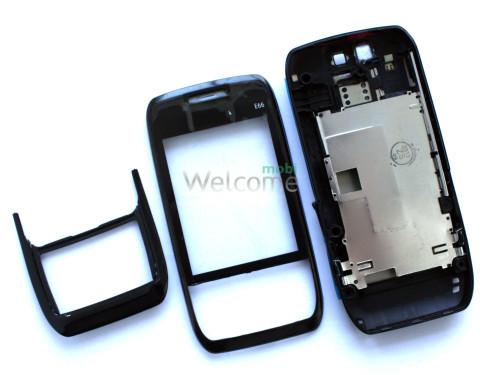 Корпус Nokia E66 black high copy полный комплект+кнопки