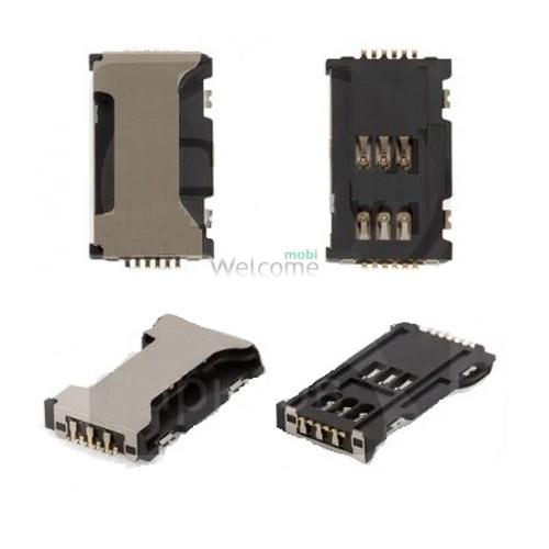 Коннектор sim Samsung C6712 Star 2 Duos B7722,C3510,C3530,C5010,E2152,E2530,E2550,i5700,i5800