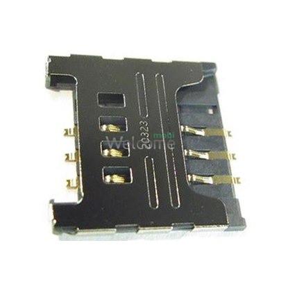 Коннектор sim Samsung C3322,C3752,S3850,S5300,S5360,S5380,S5570,S5610,S6500