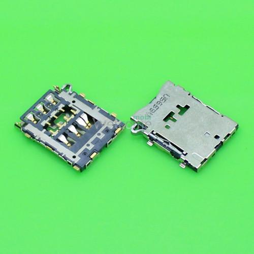 Коннектор sim Samsung A300F,A500F,3500H,A500H,A300FU,A500FU