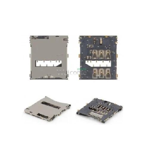 Коннектор sim Sony C6602 L36h Xperia Z,C6603,C6606
