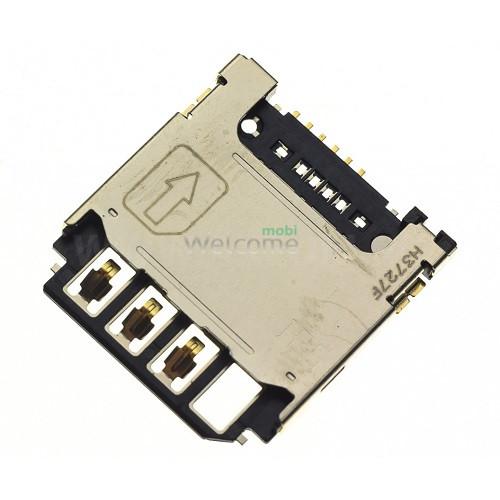 Коннектор sim Samsung S5282,S5310,S5312,S7262,i9190,i9195